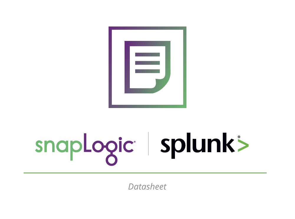 Datasheet: SnapLogic for Splunk