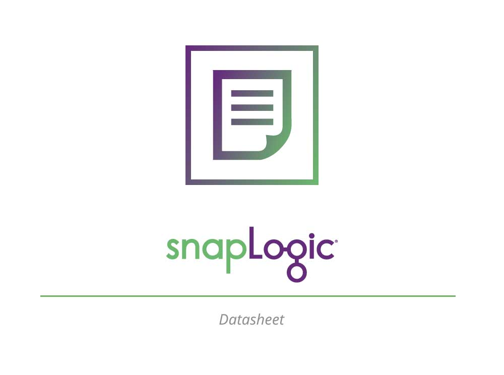 Datasheet: The SnapLogic Integration Cloud