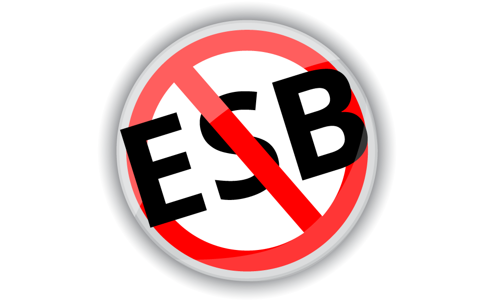 No ESB: Buses Don't Fly in the Cloud