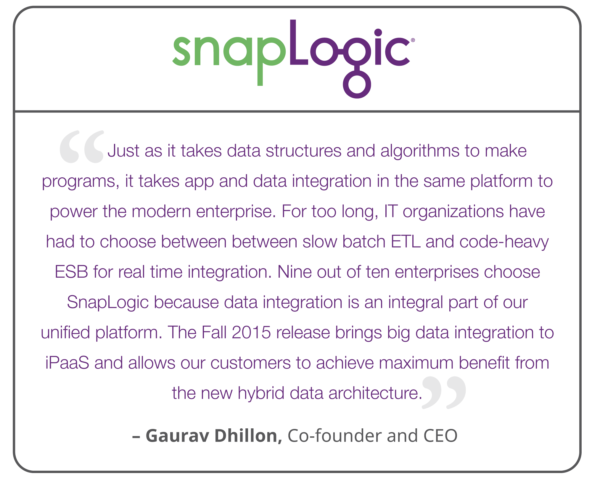 SnapLogic Fall 2015