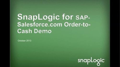 SnapLogic for Salesforce & SAP Integration