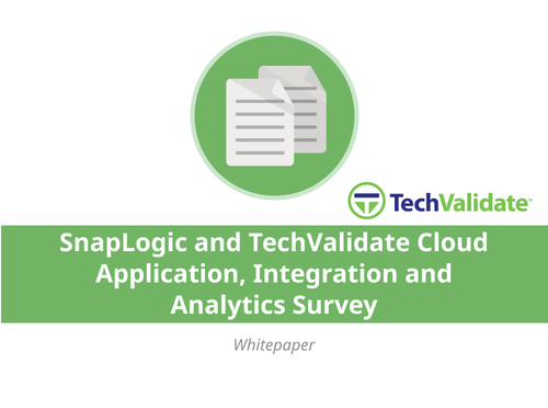 SnapLogic and TechValidate Cloud Application, Integration and Analytics Survey