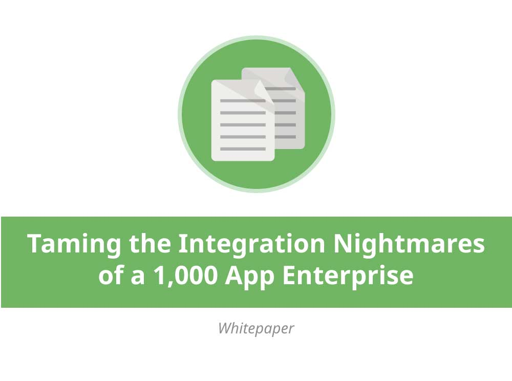 Taming the Integration Nightmares of a 1,000 App Enterprise