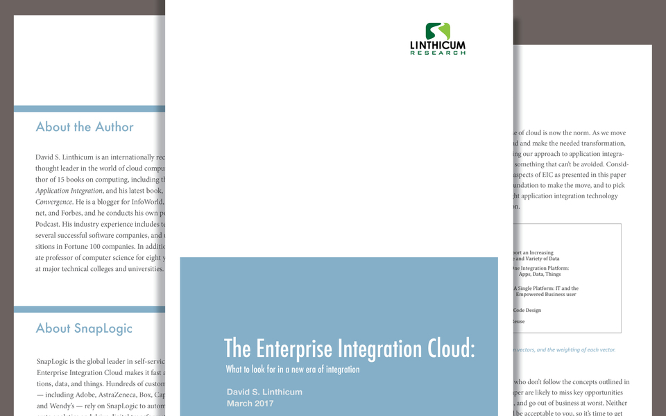 The Enterprise Integration Cloud: <br>A New Era of Integration